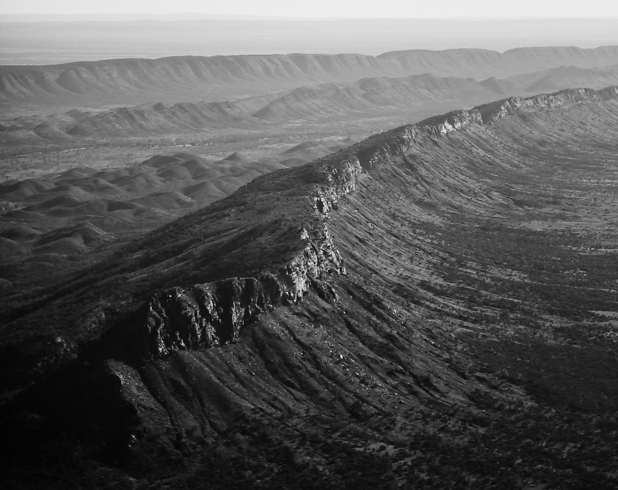 Aerial view of the West MacDonnell Ranges