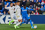 Amath of Getafe FC and Carlos Henrique Casemiro of Real Madrid during La Liga match between Getafe CF and Real Madrid at Coliseum Alfonso Perez in Getafe, Spain. January 04, 2020. (ALTERPHOTOS/A. Perez Meca)