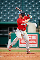 Lakewood BlueClaws center fielder Kevin Markham (30) at bat during a game against the Greensboro Grasshoppers on June 10, 2018 at First National Bank Field in Greensboro, North Carolina.  Lakewood defeated Greensboro 2-0.  (Mike Janes/Four Seam Images)