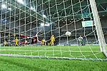 Stockholm 2014-03-04 Fotboll Svenska Cupen Hammarby IF - &Auml;ngelholms FF :  <br /> &Auml;ngelholms m&aring;lvakt Matt Pyzdrowski r&auml;ddar ett skott<br /> (Foto: Kenta J&ouml;nsson) Nyckelord:  HIF Bajen &Auml;ngelholm
