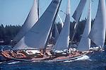 San Juan Islands, Schooner Race, Haro Strait, Washington State,