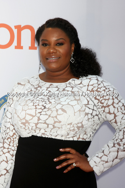 LOS ANGELES - FEB 6:  Adrienne C. Moore at the 46th NAACP Image Awards Arrivals at a Pasadena Convention Center on February 6, 2015 in Pasadena, CA