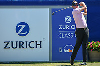 Ian Poulter (GBR) watches his tee shot on 1 during Round 4 of the Zurich Classic of New Orl, TPC Louisiana, Avondale, Louisiana, USA. 4/29/2018.<br /> Picture: Golffile | Ken Murray<br /> <br /> <br /> All photo usage must carry mandatory copyright credit (&copy; Golffile | Ken Murray)