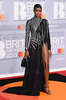 Eva Aipo<br /> arriving for the BRIT Awards 2020 at the O2 Arena, London.<br /> <br /> ©Ash Knotek  D3555 18/02/2020
