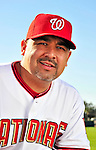 28 February 2010: Washington Nationals relief pitcher Eddie Guardado poses for his Spring Training photo at Space Coast Stadium in Viera, Florida. Mandatory Credit: Ed Wolfstein Photo