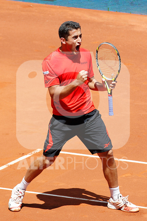 Nicolas Almagro during Tennis Madrid Open match, May 15,2010..(ALTERPHOTOS/Acero)