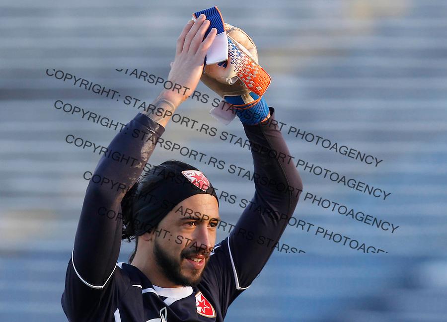 Fudbal Super liga season 2013-2014<br /> Ofk Beograd v Crvena Zvezda<br /> Goalkeeper Boban Bajkovic reacts<br /> Beograd, 30.11.2013.<br /> foto: Srdjan Stevanovic/Starsportphoto &copy;