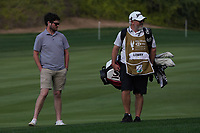Cormack Sharvin (IRL) and Brian Martin caddy for Shane Lowry (IRL) on the 10th fairway during the Pro-Am of the Abu Dhabi HSBC Championship 2020 at the Abu Dhabi Golf Club, Abu Dhabi, United Arab Emirates. 15/01/2020<br /> Picture: Golffile | Thos Caffrey<br /> <br /> <br /> All photo usage must carry mandatory copyright credit (© Golffile | Thos Caffrey)