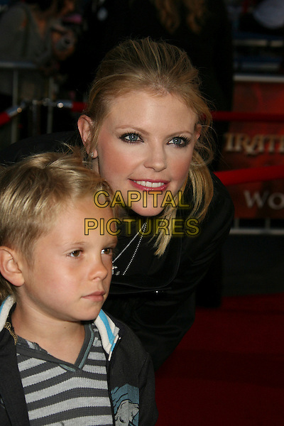 "JACK SLADE & NATALIE MAINES (THE DIXIE CHICKS).""Pirates Of The Caribbean: At World's End"" World Premiere held at Disneyland, Anaheim, California, USA,.May 19th, 007.3 headshot portrait mother son mom mum family .CAP/ADM/RE.©Russ Elliot/AdMedia/Capital Pictureso"