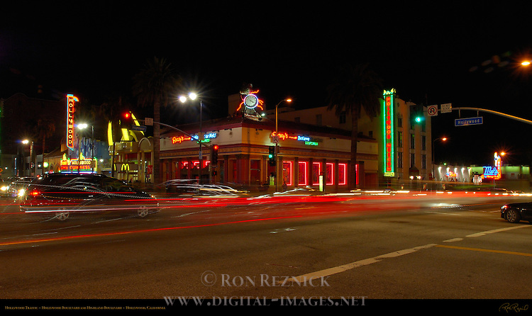 Hollywood Traffic, Hollywood Boulevard and Highland Boulevard, Hollywood, California