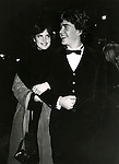 Timothy Hutton and Elizabeth McGovern ( Ordinary People costars ) attending the TAPS Movie Premiere at the Ziegfield Theatre in New York City. December 1981.