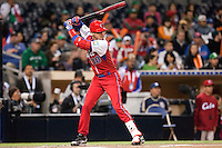 16 March 2009: #10 Yulieski Gourriel of Cuba is seen at bat during the 2009 World Baseball Classic Pool 1 game 3 at Petco Park in San Diego, California, USA. Cuba wins 7-4 over Mexico.