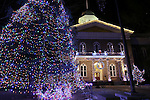 The Christmas lights at the Capitol in Carson City, Nev., on Tuesday, Dec. 31, 2013. <br /> Photo by Cathleen Allison