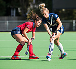 AMSTELVEEN  - Bente van der Veldt (laren) met  , hoofdklasse hockeywedstrijd dames Pinole-Laren (1-3). COPYRIGHT  KOEN SUYK