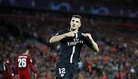 Football - 2018 / 2019 UEFA Champions League - Group C: Liverpool vs. Paris Saint-Germain Thomas Meaner of PSG celebrates scoring at Anfield. COLORSPORT/LYNNE CAMERON PUBLICATIONxNOTxINxUK  <br /> Uefa Champions League 2018/2019 <br /> Foto Imago / Insidefoto <br /> ITALY ONLY