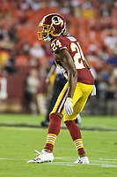 Landover, MD - August 16, 2018: Washington Redskins defensive back Josh Norman (24) in action during the preseason game between New York Jets and Washington Redskins at FedEx Field in Landover, MD.   (Photo by Elliott Brown/Media Images International)