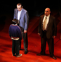 Chazz Palminteri, Hudson Loverro<br /> in '' A Bronx Tale'' Broadway play at the<br /> Longacre Theatre on W.48st 6/6/2018<br /> Photo By John Barrett/PHOTOlink/MediaPunch<br /> 917-754-8588