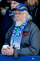 A Bristol Rovers fan seen during the Sky Bet League 1 match between AFC Wimbledon and Bristol Rovers at the Cherry Red Records Stadium, Kingston, England on 17 February 2018. Photo by Carlton Myrie.