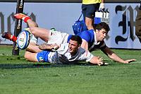 Try of Marco Zanon Italy<br /> Roma 16-03-2019 Stadio Olimpico<br /> Rugby Six Nations tournament 2019  <br /> Italy - France <br /> Foto Antonietta Baldassarre / Insidefoto