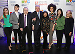 Molly Griggs, Charlie Stemp, Philip J. Smith, Robert E. Wankel, Baayork Lee, Sasha Hutchings, Amy Dorfman Wine backstage at The Fourth Annual High School Theatre Festival at The Shubert Theatre on March 19, 2018 in New York City.