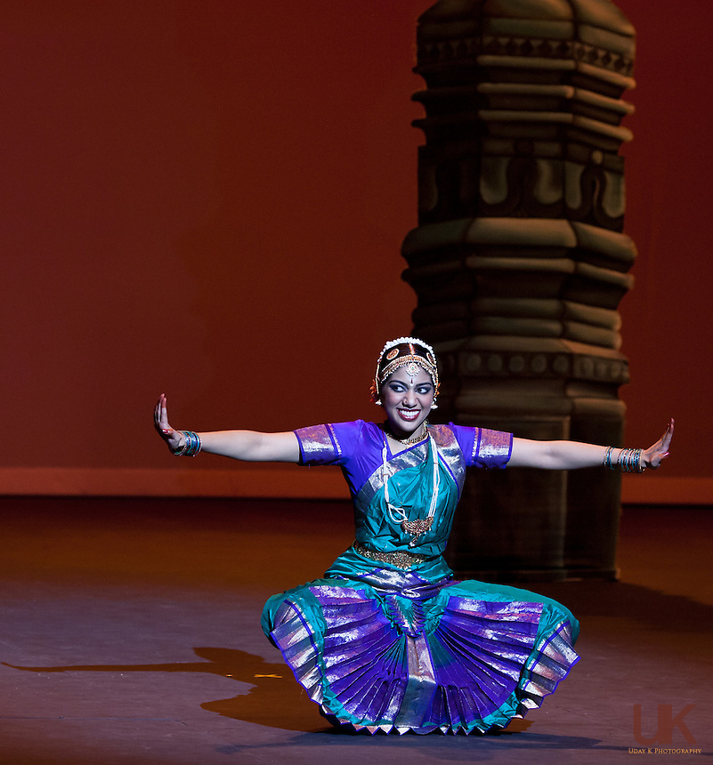 Preksha during her Arangetram performance at the Irving Arts Center, July 11th, 2010