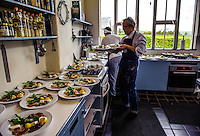 Ireland - Chefs in a kitchen at Ballymaloe Cookery School