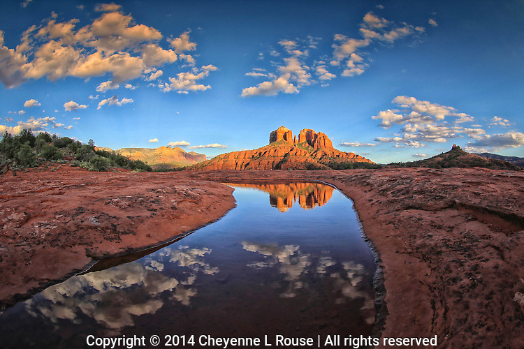 Sunset Reflection - Sedona, Arizona - red rock - water