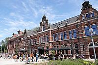 Nederland Amsterdam- mei 2018.  Oud pand van de Westergasfabriek. Tegenwoordig het onderkomen van Hotel Conscious.   Foto Berlinda van Dam / Hollandse Hoogte