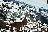 USA, Alaska, Homer, aerial view of Kachemak Bay State Park and Wilderness, Kenai mountains near Tutka Bay