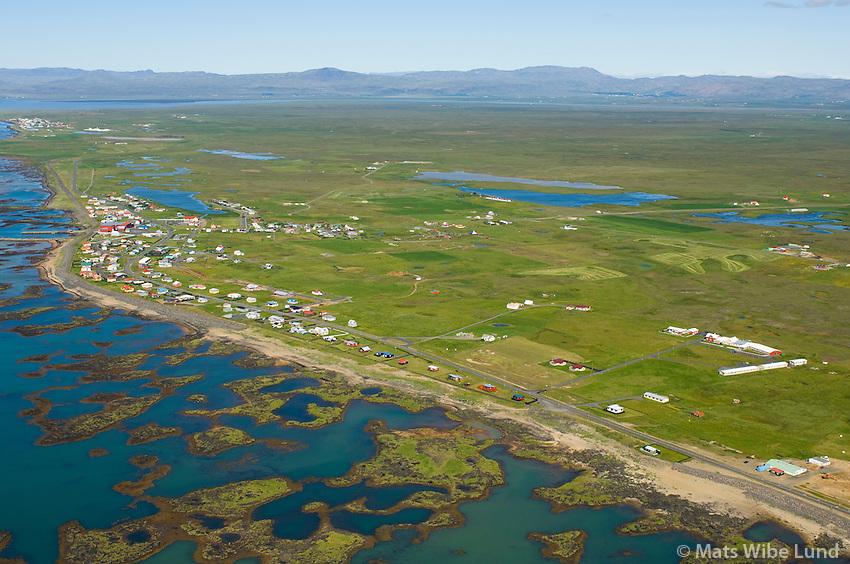 Stokkseyri séð til vestnorðvesturs, Sveitarfélagið Árborg /  Stokkseyri viewing westnorthwest, Sveitarfelagid Arborg.