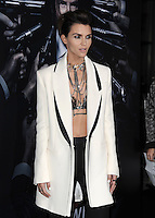 www.acepixs.com<br /> <br /> January 30 2017, LA<br /> <br /> Ruby Rose arriving at the premiere of 'John Wick: Chapter Two' on January 30, 2017 in Hollywood, California.<br /> <br /> By Line: Peter West/ACE Pictures<br /> <br /> <br /> ACE Pictures Inc<br /> Tel: 6467670430<br /> Email: info@acepixs.com<br /> www.acepixs.com