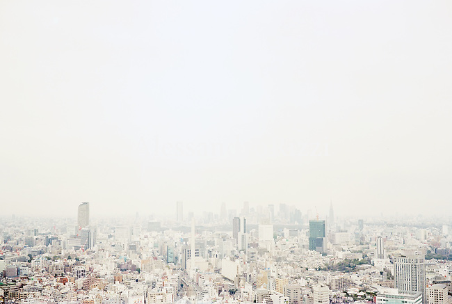 Cityscape from a building in Tokyo