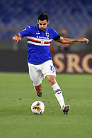 Mehdi Leris of UC Sampdoria in action during the Serie A football match between AS Roma and UC Sampdoria at Olimpico stadium in Rome ( Italy ), June 24th, 2020. Play resumes behind closed doors following the outbreak of the coronavirus disease. AS Roma won 2-1 over UC Sampdoria. <br /> Photo Andrea Staccioli / Insidefoto