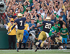 Aug. 30, 2014; William Fuller (7) celebrates as he scores a touchdown in the first quarter..Photo by Matt Cashore
