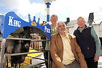 11-8-2014: Getting up close to the king are Christy, Lena and Mary  Shannon from Kilfenora, County Clare at Puck Fair, Killorglin on Monday.<br /> Picture by Don MacMonagle