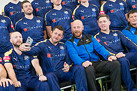 Picture by Allan McKenzie/SWpix.com - 02/04/2018 - Cricket - Yorkshire County Cricket Club Media Day 2018 - Headingley Cricket Ground, Leeds, England - Tim Bresnan takes a selfie with coach Andrew Gale as Yorkshire prepare to have their 2018 team photo taken.