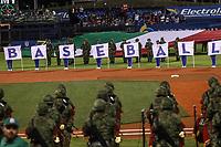 Inauguraci&oacute;n del World Baseball Classic 2017, con la bandera de Italia  en el terreno de juego<br /> <br />  Aspectos del partido Mexico vs Italia, durante Cl&aacute;sico Mundial de Beisbol en el Estadio de Charros de Jalisco.<br /> Guadalajara Jalisco a 9 Marzo 2017 <br /> Luis Gutierrez/NortePhoto.com