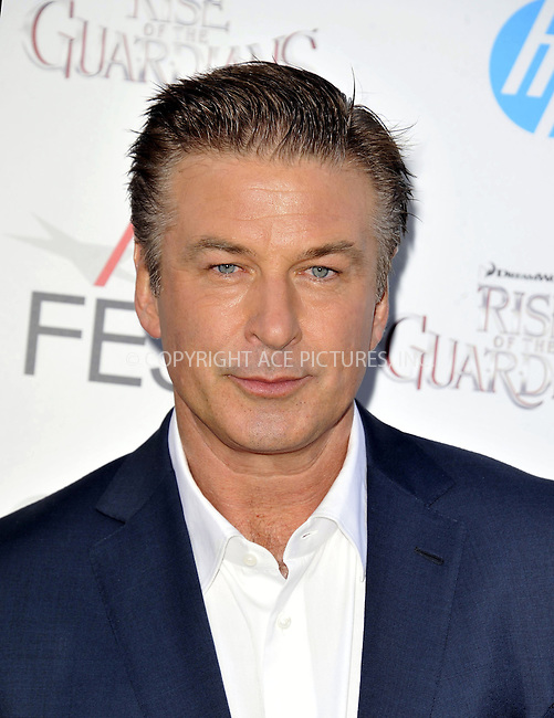 WWW.ACEPIXS.COM....November 4 2012, LA....Actor Alec Baldwin arriving at the gala screening of 'Rise Of The Guardians' during the 2012 AFI FEST at Grauman's Chinese Theatre on November 4, 2012 in Hollywood, California. ......By Line: Peter West/ACE Pictures......ACE Pictures, Inc...tel: 646 769 0430..Email: info@acepixs.com..www.acepixs.com