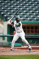 Fort Wayne TinCaps shortstop Ruddy Giron (16) at bat during the second game of a doubleheader against the Great Lakes Loons on May 11, 2016 at Parkview Field in Fort Wayne, Indiana.  Great Lakes defeated Fort Wayne 5-0.  (Mike Janes/Four Seam Images)