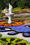 Stock photo of Artistic landscape gardening Colorful pattern made from flowers Landscape gardening Ukraine Kiev 2007