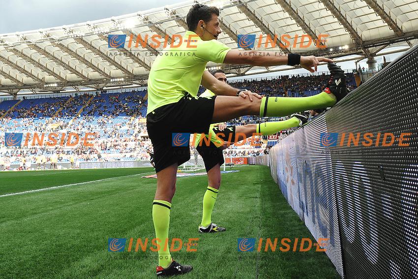 Arbitro riscaldamento Referee<br /> Roma 15-02-2015 Stadio Olimpico, Football Calcio Serie A AS Roma - Parma Foto Andrea Staccioli / Insidefoto