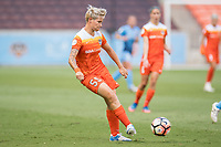 Houston, TX - Saturday May 13, Houston Dash defender Janine Van Wyk (55) during a regular season National Women's Soccer League (NWSL) match between the Houston Dash and Sky Blue FC at BBVA Compass Stadium. Sky Blue won the game 3-1.