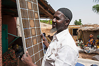 MALI, Dialakoro, shop with solar panels
