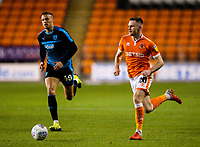 Blackpool's Ollie Turton runs at the West Bromwich Albion U21&rsquo;s defence<br /> <br /> Photographer Alex Dodd/CameraSport<br /> <br /> The EFL Checkatrade Trophy Northern Group C - Blackpool v West Bromwich Albion U21 - Tuesday 9th October 2018 - Bloomfield Road - Blackpool<br />  <br /> World Copyright &copy; 2018 CameraSport. All rights reserved. 43 Linden Ave. Countesthorpe. Leicester. England. LE8 5PG - Tel: +44 (0) 116 277 4147 - admin@camerasport.com - www.camerasport.com