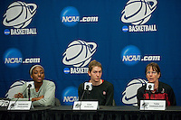 NORFOLK, VA--Off-day practice session at the Ted Constant Convocation Center at Old Dominion University in Norfolk, VA in the 2012 NCAA Championships. The Cardinal will play West Virginia on Monday, March 19 to qualify for the West Regionals in Fresno.