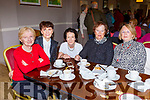 Carmel O'Brien, Margaret O'Sullivan, Dr Patricia Mangan, Eileen O''Reilly and Ger Tarrant at the Children of Chernobyl coffee morning in Killarney Golf club on Friday b