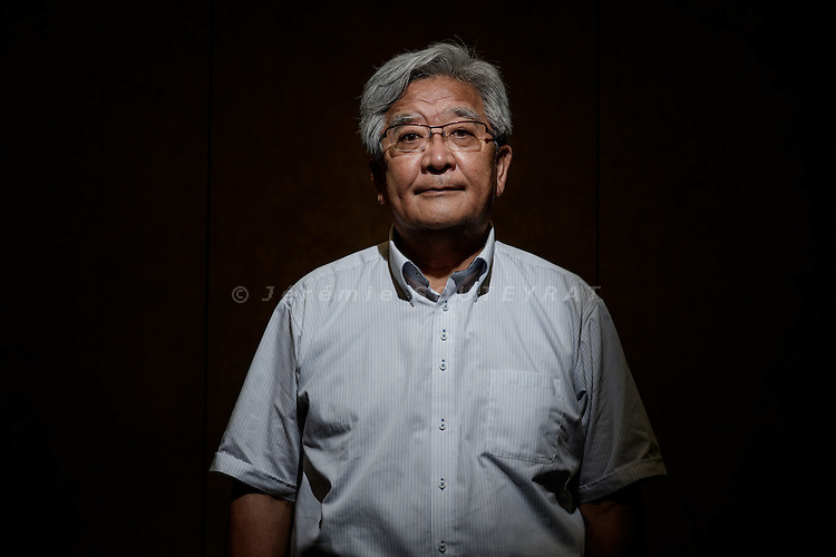 Tokyo, Japan, June 20 2016 - Portrait of Yauemon SATOH. <br /> Mr SATOH is director of a sake brewery and president of Ai Power, a company that he created after Fukushima nuclear disaster to build local solar panel stations and promote green energies.