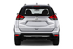 Straight rear view of a 2019 Nissan Rogue SV 5 Door SUV stock images