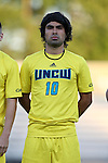 15 September 2015: UNCW's Jose Garcia. The Duke University Blue Devils hosted the University of North Carolina Wilmington Seahawks at Koskinen Stadium in Durham, NC in a 2015 NCAA Division I Men's Soccer match. UNCW won the game 3-0.