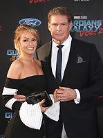 19 April 2017 - Hollywood, California - Hayley Roberts, David Hasselhoff. Premiere Of Disney And Marvel's &quot;Guardians Of The Galaxy Vol. 2&quot; held at the Dolby Theatre. <br /> CAP/ADM<br /> &copy;ADM/Capital Pictures